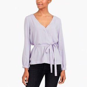J. Crew • Mercantile Lavender Wrap Blouse